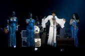 Performances by the original Boney M  with Bobby Farrel — Stock Photo
