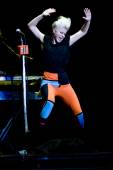 Robyn at the opening act — Stock Photo