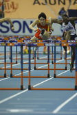 Liu Xiang of China compete in Semifinal of the Mens 60 Metres Hurdles Heat — 图库照片