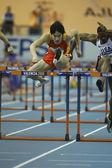 Liu Xiang of China compete in Semifinal of the Mens 60 Metres Hurdles Heat — Stock Photo