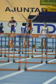 Liu Xiang of China compete in Final of the Mens 60 Metres Hurdles Heat — ストック写真