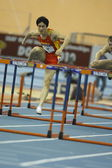 Liu Xiang of China compete in Final of the Mens 60 Metres Hurdles Heat — Photo