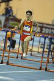Liu Xiang of China compete in Final of the Mens 60 Metres Hurdles Heat — Stockfoto