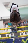 Rider on the horse during  Global Champions Tour of Spain — Photo