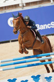 Rider on the horse during  Global Champions Tour of Spain — Stock fotografie