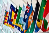 National Flags at  Global Champions Tour of Spain — Stock Photo