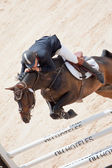 Rider on the horse during  Global Champions Tour of Spain — Stock Photo