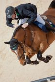 Rider on the horse during  Global Champions Tour of Spain — Stockfoto