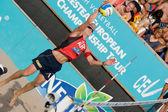Mistrzostwa w piłce siatkowej Europejskiej Beach — Zdjęcie stockowe