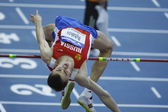 Yaroslav Rybakov competes in the Mens High Jump Qualification — Stock Photo