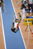 Daichi Sawano	competes in the Men's pole vault — Stock Photo