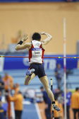 Daichi Sawano	competes in the Men's pole vault — Stockfoto