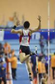 Daichi Sawanocompetes in the Men's pole vault — Stock Photo