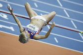 Iva Strakova competes in the Women's high jump — Stock Photo