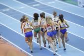 Soboleva, Desviat, Jarvenpaa, Yordanova, Antoci, Jamal, Wurth-Thomas, Burka, Tobias, Scott competes in the Women's 1500 metres — Stock Photo