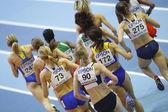 Soboleva, Desviat, Jarvenpaa, Yordanova, Antoci, Jamal, Wurth-Thomas, Burka, Tobias, Scott competes in Women's 1500 metres — Stock Photo