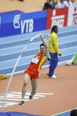 Feiliang Liu at the  Qualification of Men's pole vault — Stock Photo