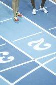 Racetrack during the IAAF World Indoor Championship — Stock Photo