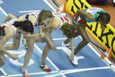 Meseret Defar on the start at the Womens 3000 metres final — Stock Photo