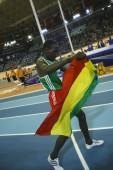 德雷斯防治在男子 1500年米决赛 — 图库照片