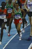 Cherkos, Koech and  Tariku Bekele competes at Men's 3000 metres — Fotografia Stock