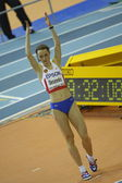Elena Slesarenko competes in Women's high jump final — Stock Photo