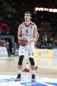 Nemanja Dangubic during free throw — Stock Photo