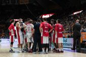 Crvena Zvezda Telekom players during the timeout — Stock Photo