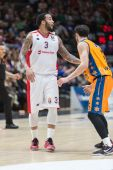 Marcus Williams (L) and Pau Ribas (R) during the game — Stock Photo