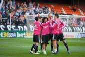 Real Madrid players during match — Stock fotografie