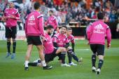 Real Madrid players during match — Stok fotoğraf
