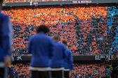 сторонники во время испанского матча лиги — Стоковое фото
