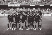 Real Madrid players during match — ストック写真