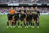 Real Madrid players during match — Stock Photo