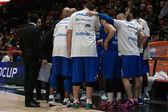 CSU Asesoft Ploiesti players at timeout — Stock Photo