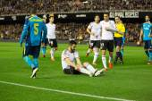 Negredo earned a penalty — Stock Photo
