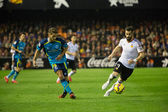 Carrico (L) and Negredo (R) in action — Foto de Stock