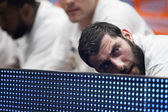 Bourousis during the game on the bench — Stock Photo
