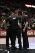 Referees during the game — Stock Photo