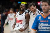 VALENCIA, SPAIN, FEBRUARY 15: Kc Rivers smiling during Spanish League match between Valencia Basket Club and Real Madrid at Fonteta Stadium on February 15, 2015 in Valencia, Spain — Stockfoto