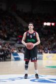 Vasilije Micic at free throw — Stock Photo