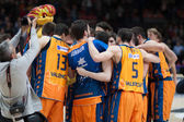 Valencia Basket Club team players — Stock Photo