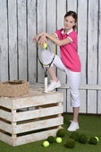 Young female tennis player — Stock Photo