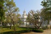 White temple, Chiang Rai, Thailand — Stock Photo