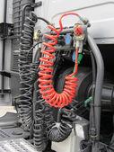 Hydraulické kabelové náklaďák. nákladní automobil brzda kabely — Stock fotografie