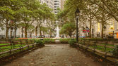 Bowling Green Park in New York — Stock Photo