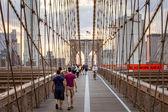 New York'ta Williamsburg Köprüsü — Stok fotoğraf