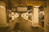 Interior of NYC Subway station — Stock Photo