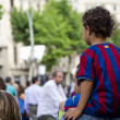 Barcelona fans — Stock Photo #52634951