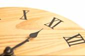 Round wooden clock — Stock Photo